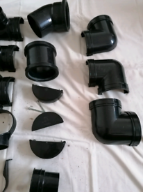Guttering and soil pipe fittings