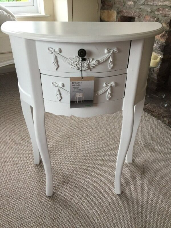 Dunelm Mill Toulouse White Side Table