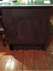 Antiqued red wall Cupboard