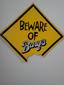 Vintage Barq's Root Beer 18 in BEWARE OF BARQ'S Metal Sign