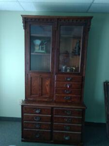 Antique - Oak Stepback Cabinet