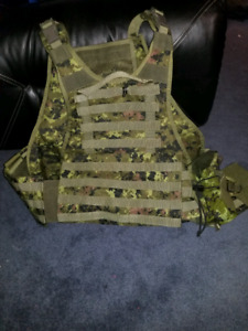 Cadpat plate carrier ans accessories