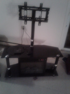 Glass TV stand and Electric  fireplace unit!  REDUCED.