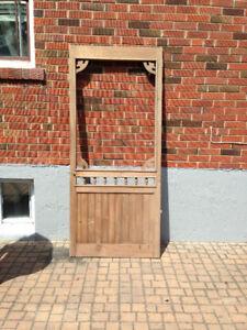 Exterior wood screen door