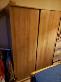 Sliding Wardrobe with Rail Wood £40