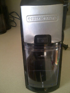 Black and Decker coffee burr mill