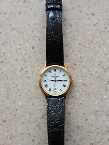 Mens Gold Plated Sonates Strap Watch. Code: 12443/P01
