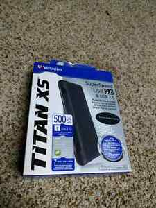 Titan XS 500GB External Hard Drive NEW PRICE Kingston Kingston Area image 1
