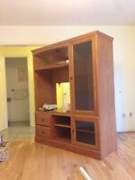 Solid Wood TV cabinet Made In Canada