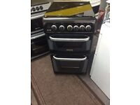 Black cannon 50cm gas cooker grill & oven good condition with guarantee