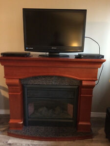 electric fireplace with granate
