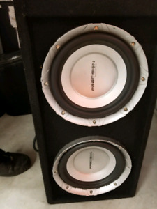 2 10 inch subs in box