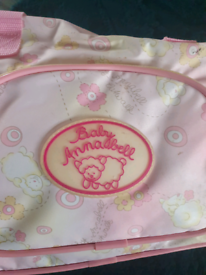 Baby Annabell suitcase and carry bag.