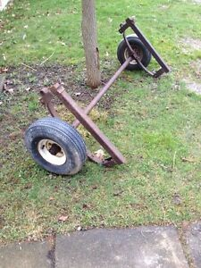 Trailer axle from Snowmobile Trailer