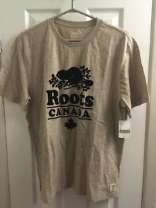 ROOTS CABIN T-SHIRT (Large) FOG PEPPER