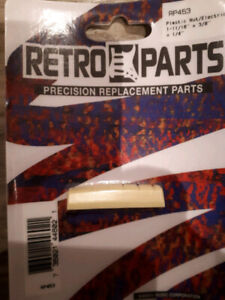 """Guitar replacement nut 1-11/16"""" x 3/8"""" x 1/4"""""""
