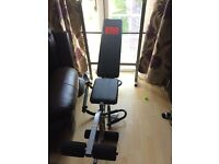 Barbell bench and weights for £50