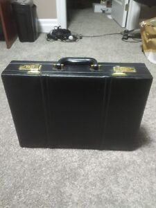 Black Leather Briefcase for sale.   $10