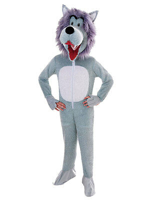 Child Big Head Deluxe Animal Wolf Mascot Fancy Dress Costume Kids Book Week Day ()