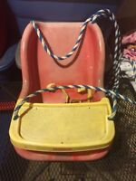 Outdoor Fisher Price infant/toddler swing with tray