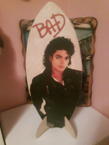 Micheal Jackson mini wooden Surf borad