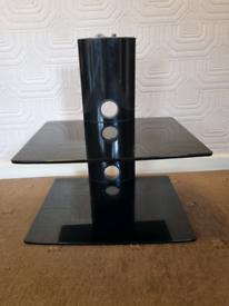 2 Teir Shelf Glass Stand Wall Mount TV