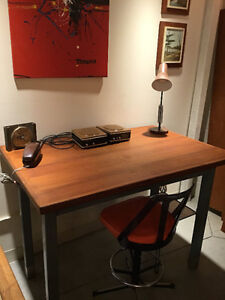 MID CENTURY TEAK HIGH TOP TABLE / DESK - Live In Retro!