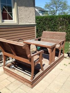 Enjoy Your Outdoor Spaces with this Cedar Glider