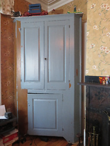 Large Antique Corner Cupboard