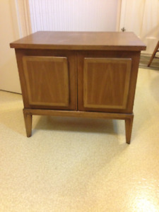 WALNUT TV STAND, END TABLE,  NIGHT STAND