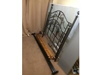Black metal double bed for sale