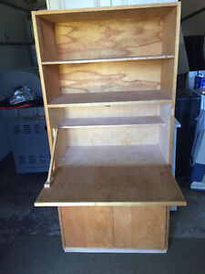 Solid Wood Bookcase Cabinet/Desk