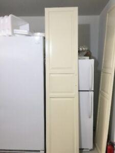 2 portes penderie pax Ikea 19'' X 90'' avec trou poignée 6 1/4