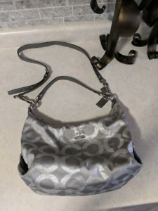 Silver Coach Monogram purse