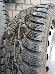 Hankook ice set of 4 winter tires  with rims for sale