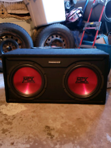 mtx subwoofers with amp