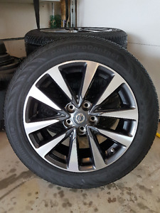 NEW NISSAN RIMS AND CONTIPRO TIRES 215/55/17