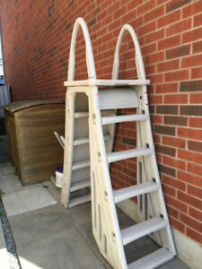Roll Guard A-Frame Safety Ladder - Swimming Pool