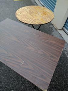 Rectangular Tables-Used, Folding, 4x2.5',8x2',excellent conditio