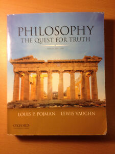 "Textbook - ""Philosophy - The Quest For Truth"" Ninth Ed"