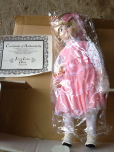 Joyce Lynn doll with certificate of authenticity