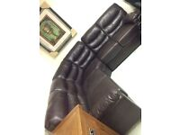 Leather corner suite sale new last one left