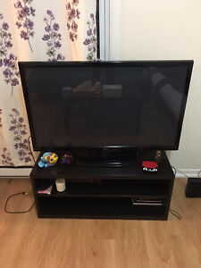 42LG TV with TV bench