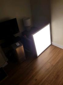Airmled recessed light panel. plus convertor.