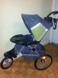 Baby trend jogging stroller Green and grey+ Raining cover