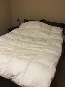 Queen Feather Mattress Pillow top