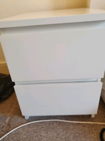 FREE 2 x IKEA Malm bedside tables pair white
