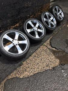 TSW mags chromé 18 pouces sur 4 pneus été conditions A1