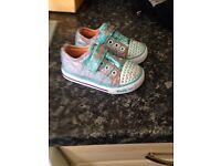 Skechers twinkle toe girls shoes