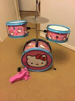 Hello kitty drum set